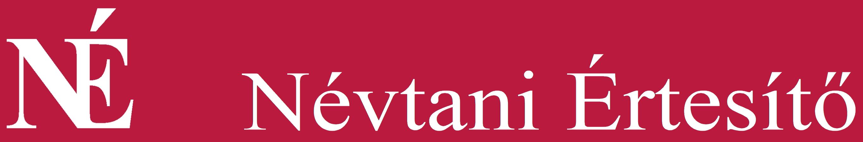 A Névtani Értesítő logója.