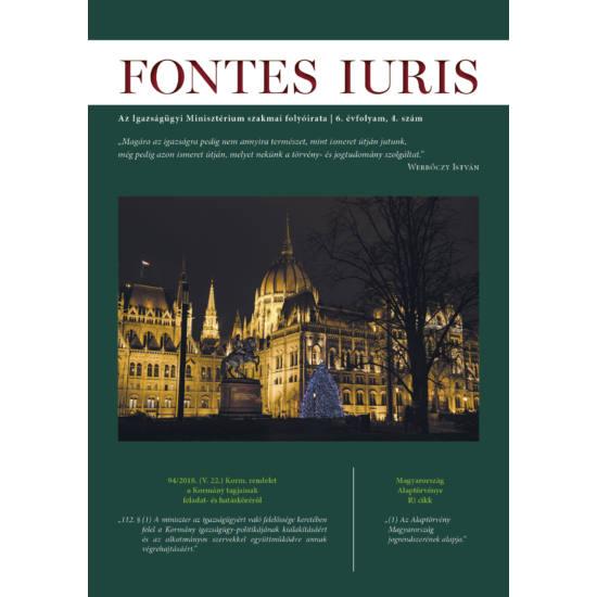 Fontes Iuris borító